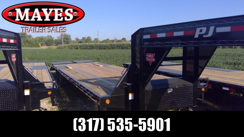 2020 102x30 Foot (25+5) PJ Trailers LD302 Equipment Trailer - Flatdeck - Gooseneck - Toolbox - Flip Over Monster Ramps (GVW:  25000)