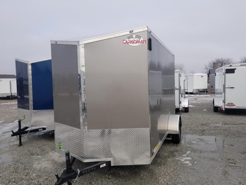 "2018 6.5x12 Cargo Mate EHW612SA Enclosed Cargo Trailer - Light Metallic Pewter (RD)(GVW: 2990)(12"" Extra Height)"