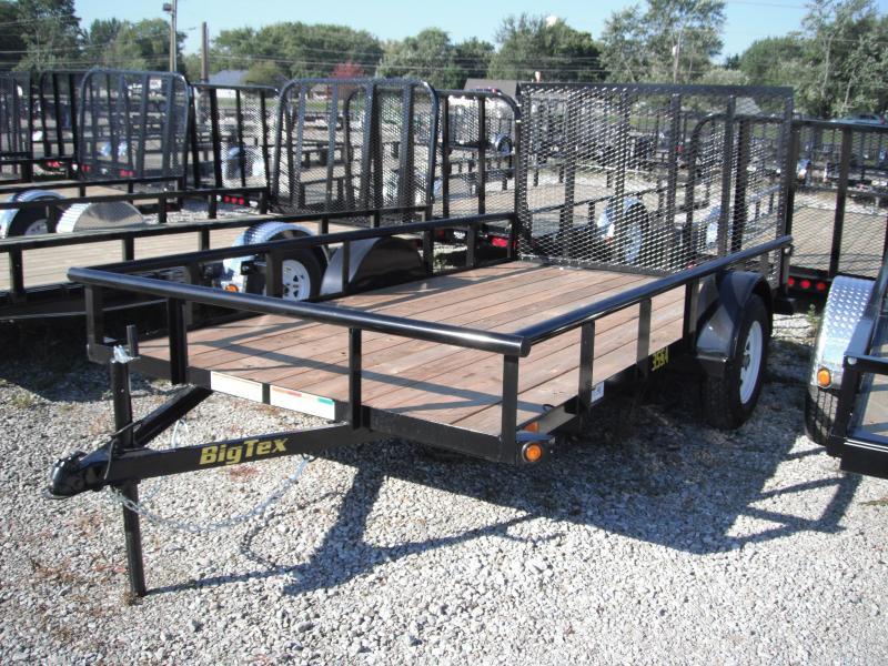 2014 6-1/2x12 Big Tex Trailers 35SA Utility Trailer - (SA)(4' Ramp Gate) w/ Spare Mount