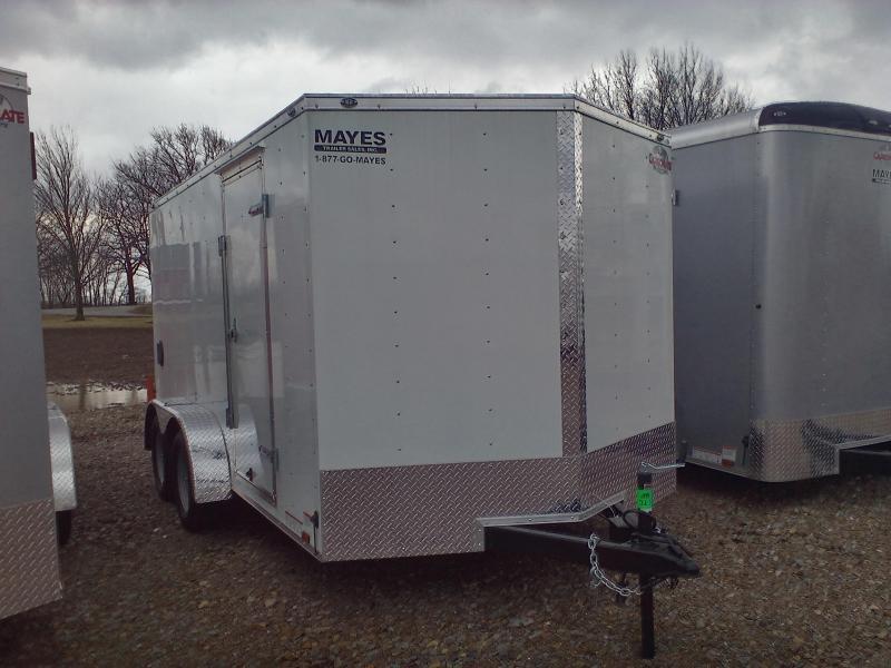 2018 7x14 Cargo Mate EHW714TA2 Enclosed Cargo Trailer - White (DD)(GVW: 7000)
