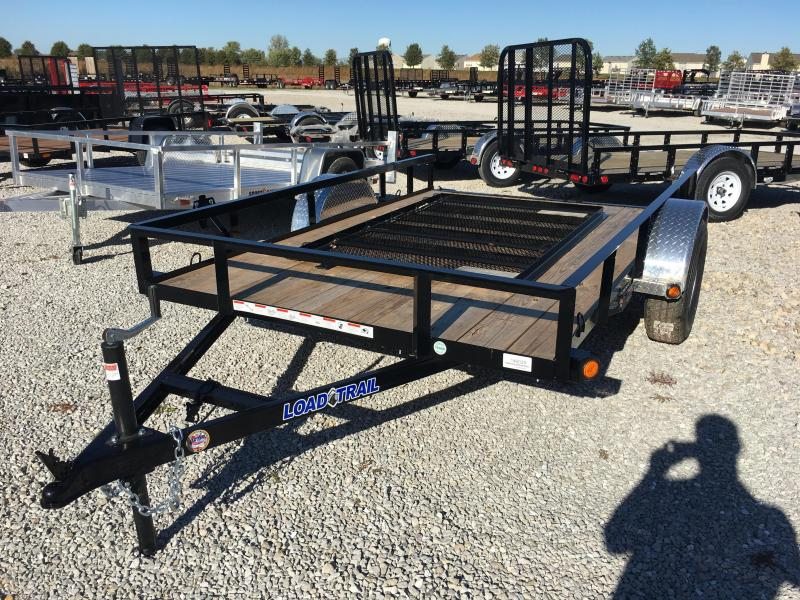 2018 77x10 Load Trail SE77 Utility Trailer - w/ 4' Fold-up Gate (GVW: 3000)