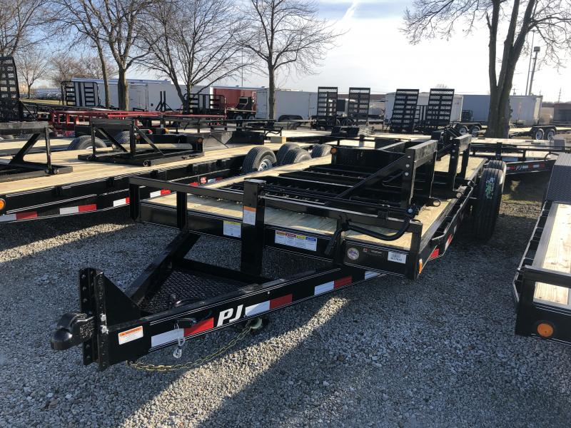 2019 80x20(18+2' Dovetail) PJ Trailers CC202 Trailer - w/ 31x66 HD Fold-up Ramps (GVW: 16000)