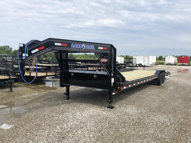 2019 102x32(30+2' Dovetail) Gooseneck Load Trail Car Hauler w/ 5' Slide-in Ramps (GVW: 14000) *Driver-over Fenders* *Gooseneck*