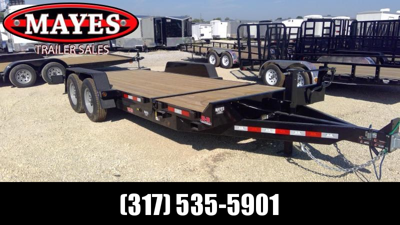 2020 20 Foot (4+16) TA Tilt B-B TBCT2014ET Equipment Trailer - Torflex Axles - Side Mounted Hydraulic Control Valve (GVW:  14000)