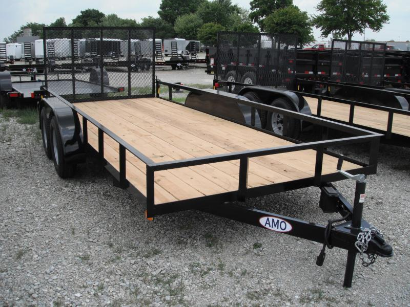 2018 76x16 American Manufacturing Operations AL16TTBBN Utility Trailer - w/ 4' Gate (GVW: 7000)