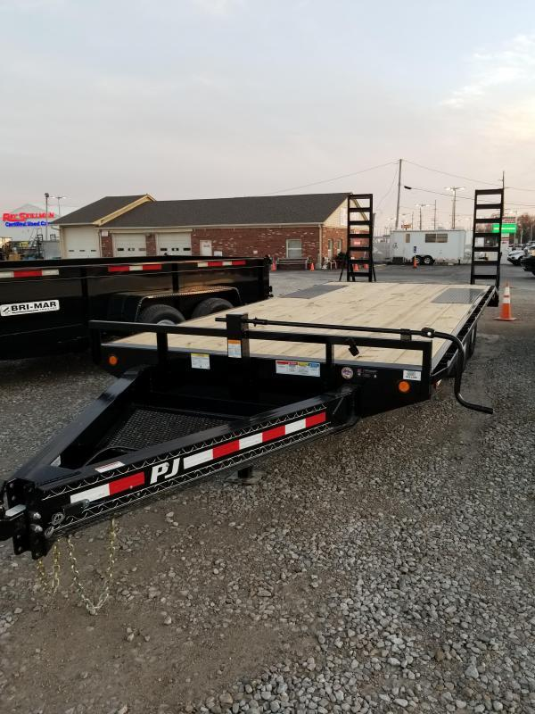 2018 96x20(17+3' Dovetail) PJ Trailers F8 Trailer - w/ 5' Fold-up Ramps (GVW: 14000)