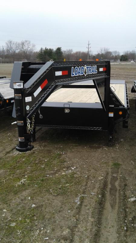 2019 102x25 (20+5) Load Trail GH0225072 Equipment Trailer - 5' Self Clean DT - Max Ramps (GVW:  14000) Gooseneck