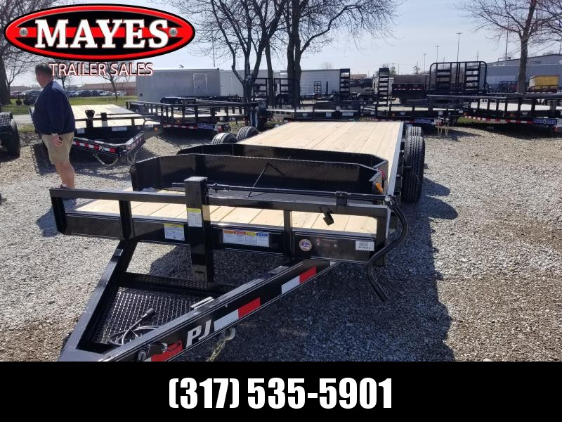 "2019 20' 6"" Channel PJ Trailers CC202 Equipment Trailer - Slide In Ramps (GVW:  14000)"