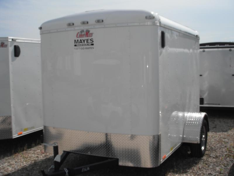 2014 6x8 Cargo Mate BL608SA Cargo / Enclosed Trailer - White (RD)