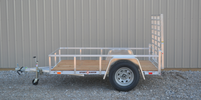 2018 5x8 Sport Haven AUT508 Utility Trailer - w/ 4' Fold-in Gate (GVW: 2990)