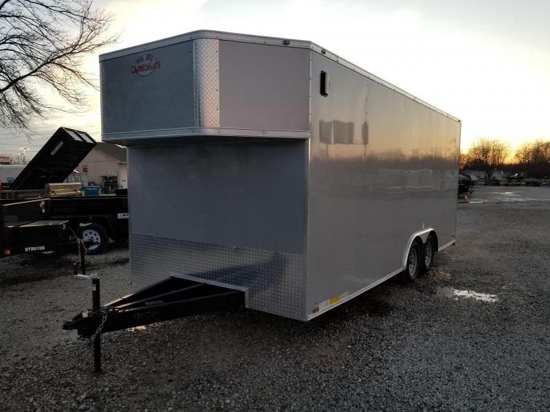 """2018 102x20 Cargo Mate EHW8520TA2 Enclosed Cargo Trailer - Diamond Ice (RD)(GVW: 7000)(12"""" Extra Height) *Special Tapered Front*"""