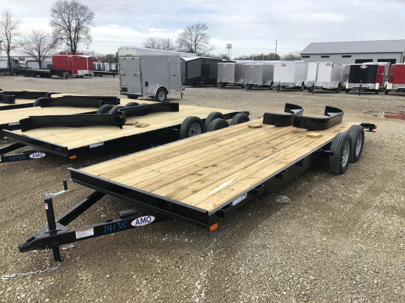 2019 82x20 (18+2) American Manufacturing Operations (AMO) UT202 Utility Trailer - Slide In Ramps (GVW:  7000)