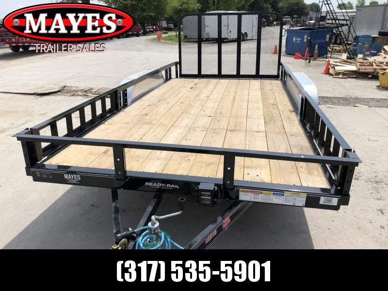 2020 83x16(14+2' Dovetail) PJ Trailers UL Utility Trailer - w/ 4' Fold-up Gate (GVW: 9899)(ATV Ramps)