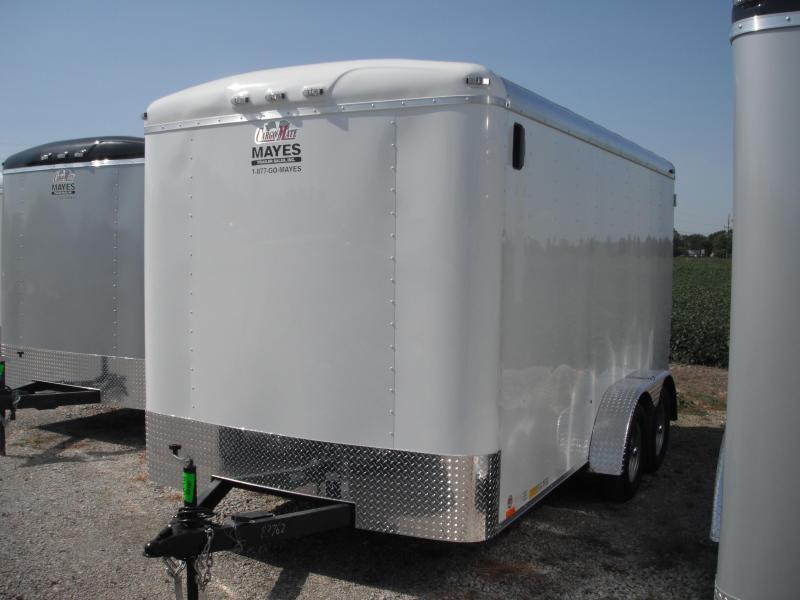 2015 7x14 Cargo Mate BL714TA2 Cargo / Enclosed Trailer - Polar White (DD)