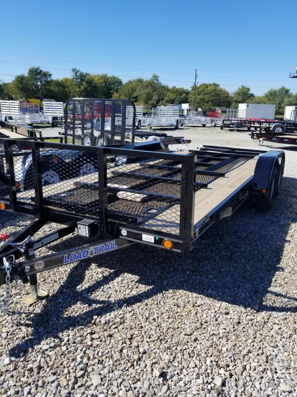 "2018 83x18(16+2' Dovetail) Load Trail LT83 Utility Trailer - w/ 3' HD Fold-up Gate (GVW: 7000)(24"" Mesh Sides)"