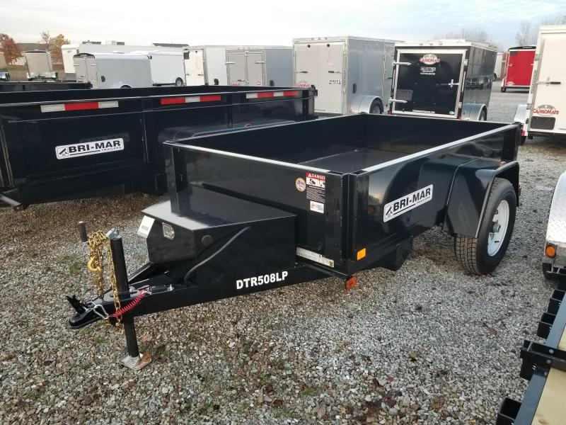 2018 5x8 Bri-Mar DTR508LP-5-D Dump Trailer - One Piece Gate (GVW: 5000)