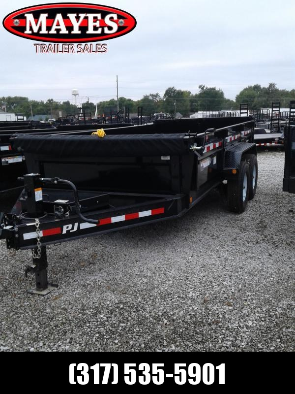 2019 83x14 PJ Trailers DL142 Low Pro Dump Trailer - Split/Spread Gate - Oil Bath Axles - Tarp Kit (GVW:  16000)