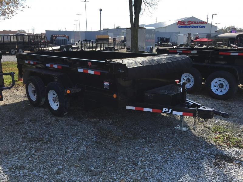 2018 78x12 PJ Trailers D2 Dump Trailer - (Split Gate)(Tarp Kit)(Ramps)(GVW: 9899)