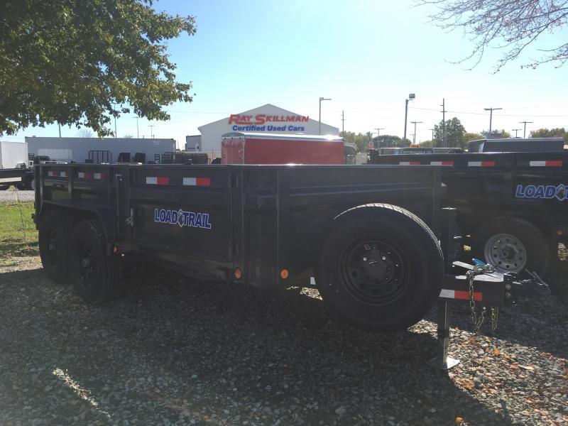 2018 83x14 Load Trail Low-Profile DV14 Dump Trailer 10k Jack  - Gray Powdercoat (Tarp Kit)(Ramps)(GVW: 14000) *Black Wheels* *Spare Tire and Wheel*