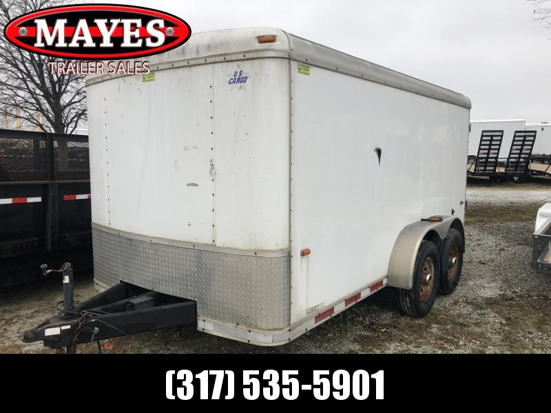 2008 Used 7x14 US Cargo 7X14 Enclosed Cargo Trailer - Double Door (GVW:  12000)