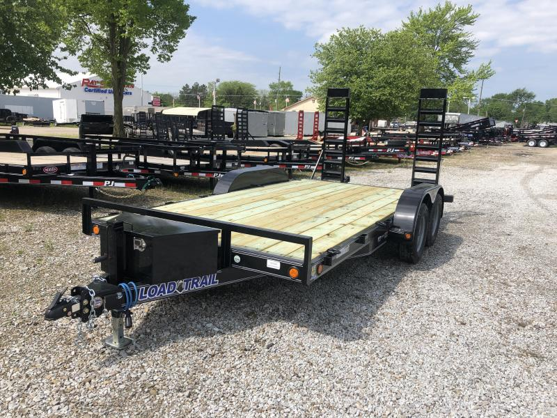 2019 83x16 (14+2)  Load Trail 83x16 TA Car Hauler - Fold Up Ramps (GVW:  7000)