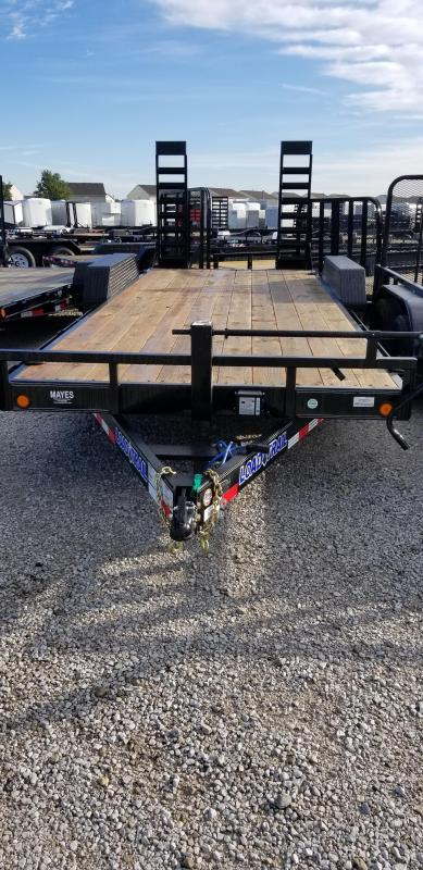 2019 83x20(18+2' Dovetail) Load Trail CH20 Tandem Axle Carhauler Car / Racing Trailer - w/ 5' Fold-up Ramps (GVW: 14000)