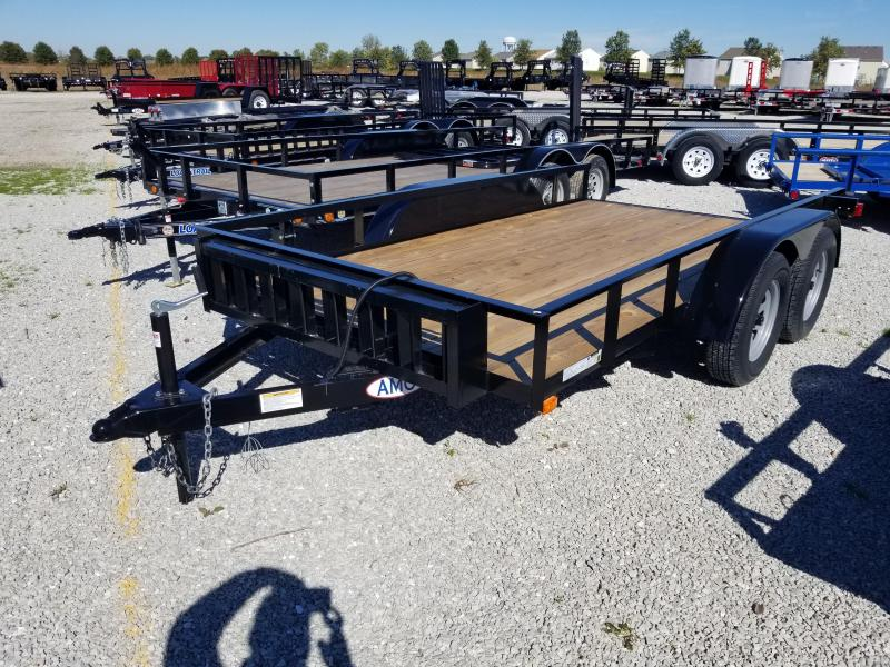 2018 76x12 American Manufacturing Operations UT122 Utility Trailer - w/ Slide-in Ramps (GVW: 7000)