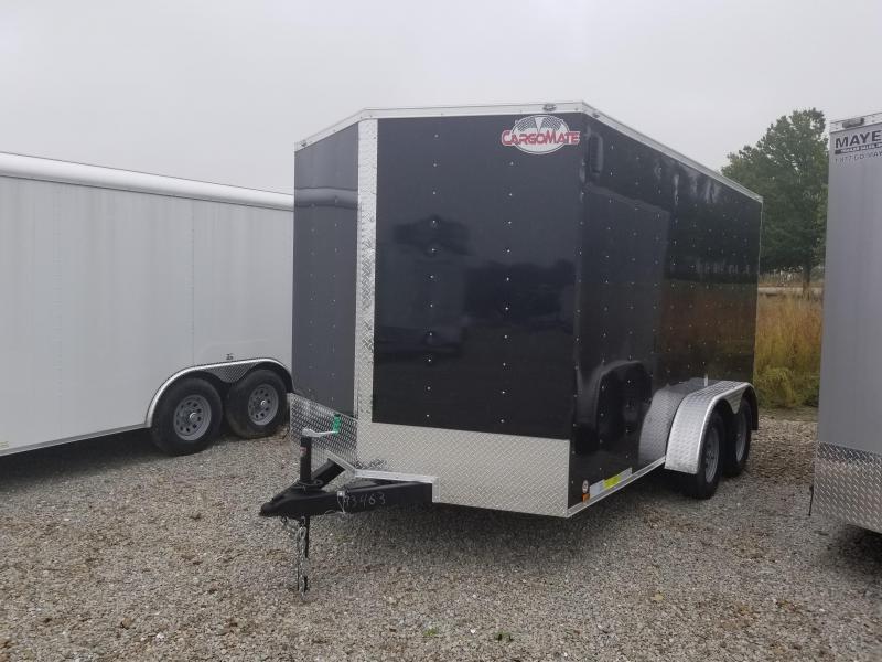 "2018 7x14 Cargo Mate EHW714TA2 Enclosed Cargo Trailer - Black (RD)(6"" Extra Height)(GVW: 7000)****Alum Tread Plate Floor*****"