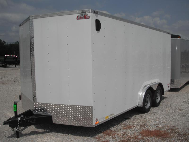 2015 8x16 Cargo Mate EHW816TA2 Cargo / Enclosed Trailer - White (RD)