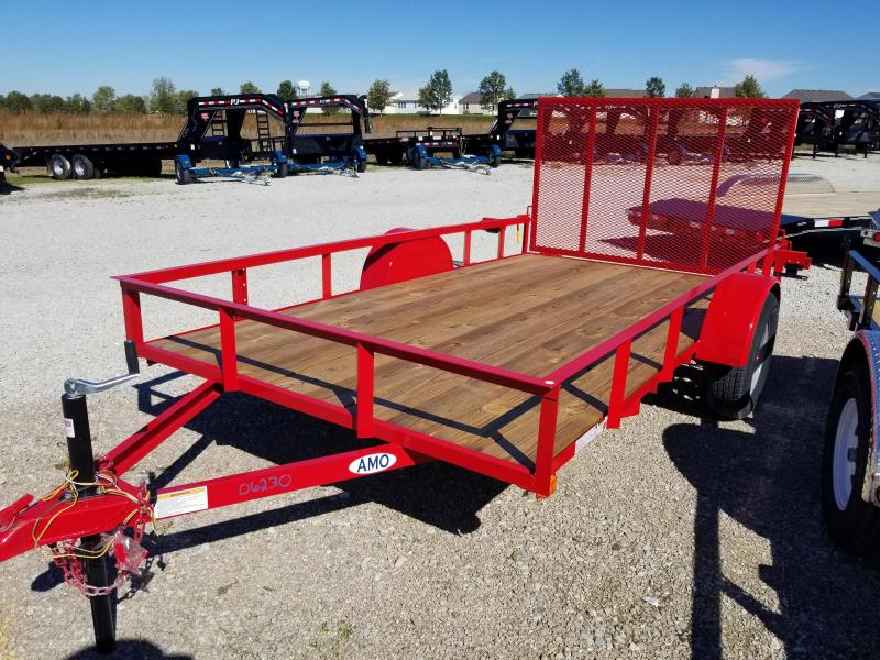 2018 76x12 American Manufacturing Operations A612GN Utility Trailer - 4' Gate (GVW: 2990) *Red Paint*