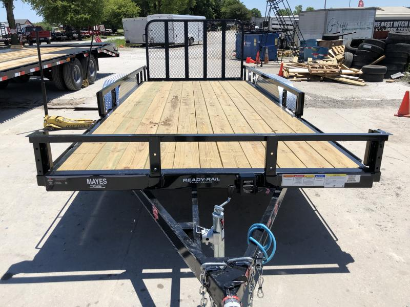 2020 83x18(16+2' Dovetail) PJ Trailers UL Utility Trailer - w/ 4' Fold-up Gate (GVW: 7000)(ATV Ramps)