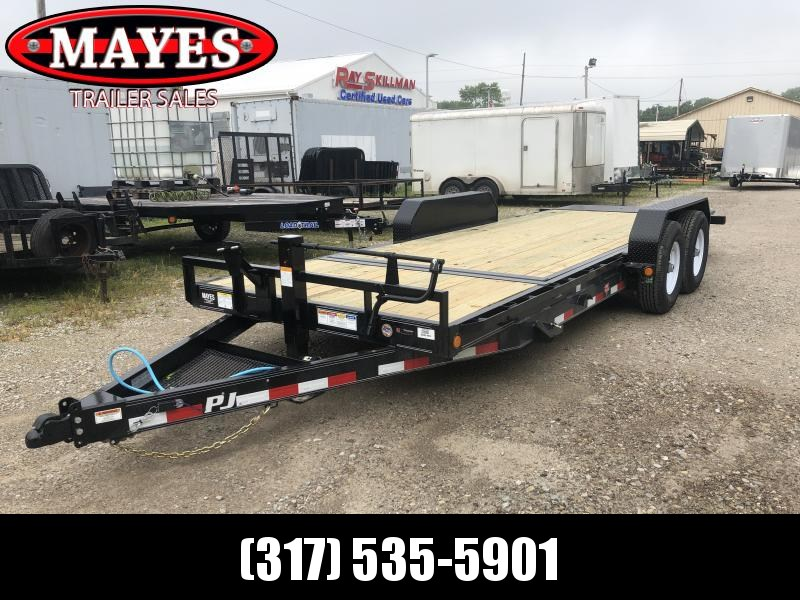 2020 83X20' (16+4) TA Tilt PJ Trailers T6202 Equipment Trailer - Spare Tire MOUNT ONLY - Torsion (GVW:  14000)
