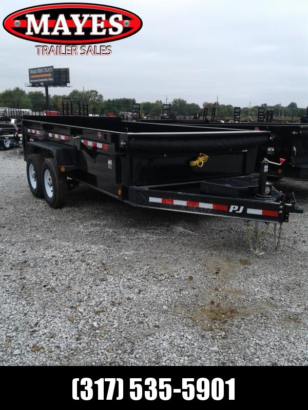 2019 83x14 PJ Trailers DL142 Low Pro Dump Trailer - Split/Spread Gate - Tarp Kit (GVW:  14000)