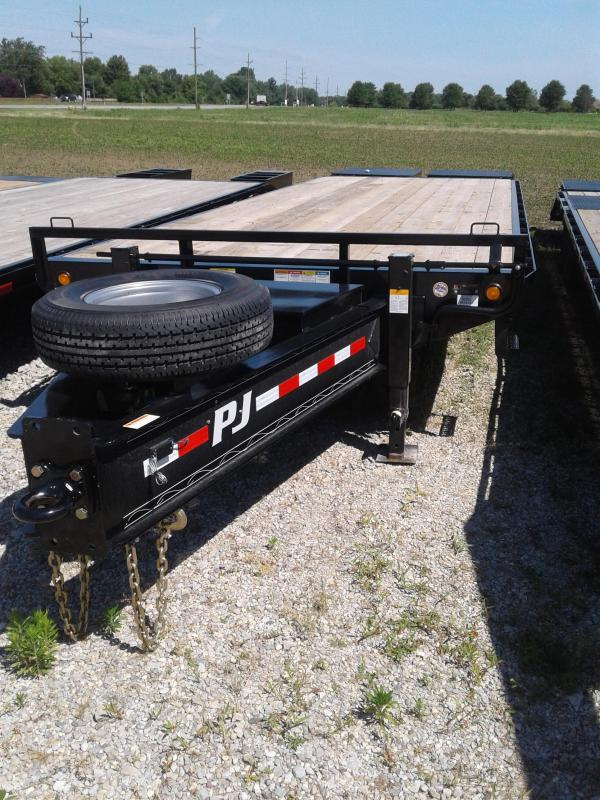 2019 102x27(22+5' Dovetail) PJ Trailers PD Classic Pintle with Duals Trailer - w/ 2 Flip-over Monster Ramps (GVW: 25000)