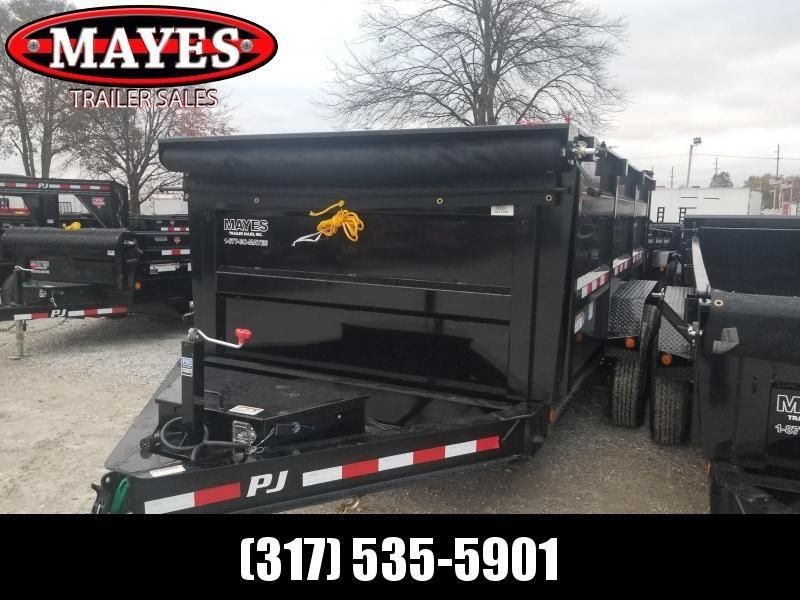 "2019 PJ Trailers 14' x 83"" Low Pro High Side Dump Trailer - Tarp Kit (GVW:  14000)"
