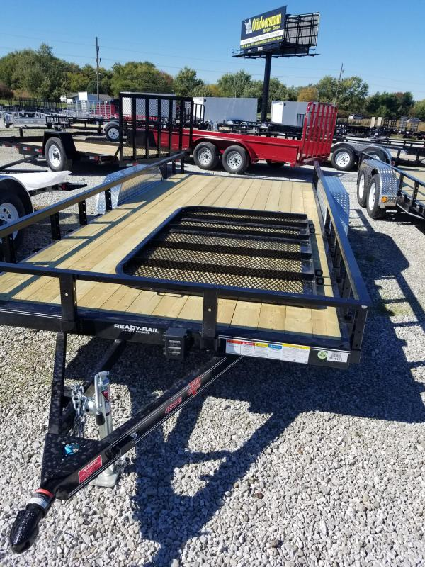 2018 83x18(16+2' Dovetail) PJ Trailers UL Trailer - w/ 4' Fold-up Gate (GVW: 7000)