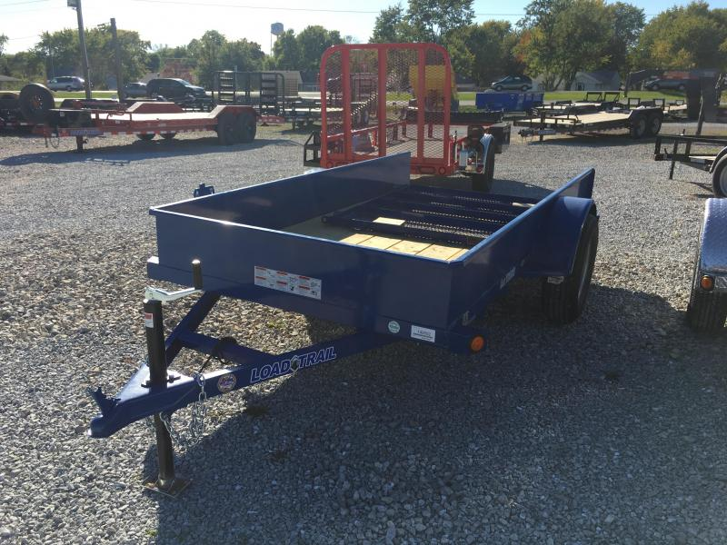 2018 5x10 Load Trail SS60 Utility Trailer - Straight Deck w/ 4' Gate (GVW: 3000)(Solid Sides) *Blue Powdercoat*