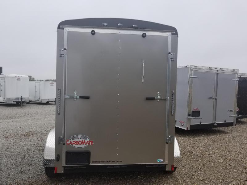 "2018 6x10 Cargo Mate BL610TA2 Enclosed Cargo Trailer - Light Metallic Pewter (RD)(GVW: 7000)(6"" Extra Height)"