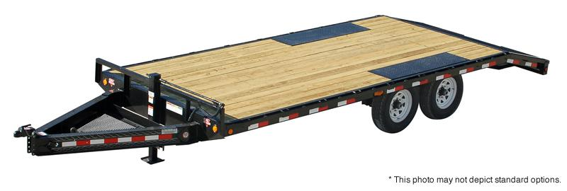 "2019 96x22(19+3' Dovetail) PJ Trailers F8 8"" I-Beam Deckover Trailer - w/ 5' Stand-up Ramps (GVW: 14000)"