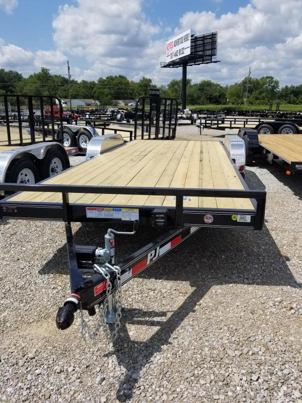 2018 83x20(18+2' Dovetail) PJ Trailers C5 Trailer - w/ 5' Rear Slide-in Ramps (GVW: 7000)
