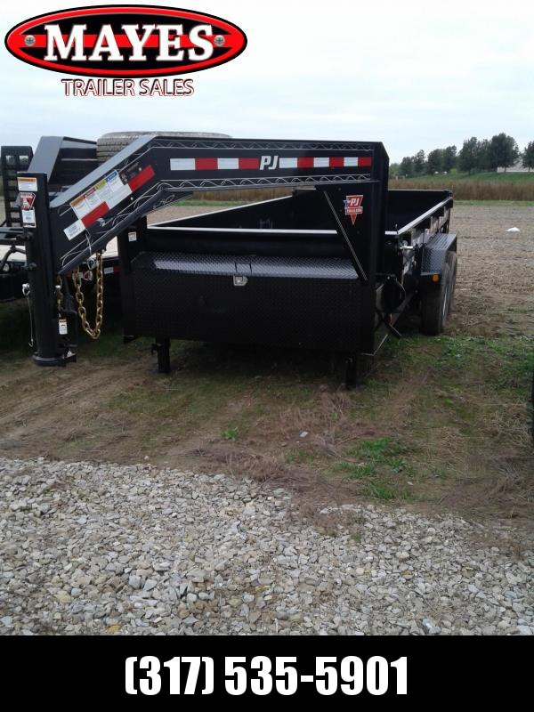 2019 83X14 PJ Trailers DL142 Low Pro Gooseneck Dump Trailer - Split/Spread Gate (GVW:  15680)