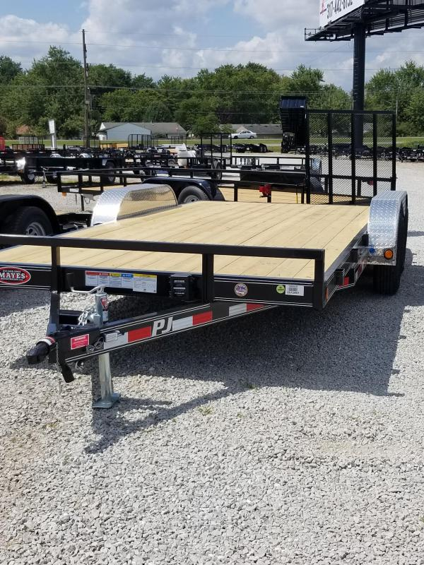 2018 83x18(16+2' Dovetail) PJ Trailers C5 Trailer - w/ 5' Rear Slide-in Ramps (GVW: 7000)