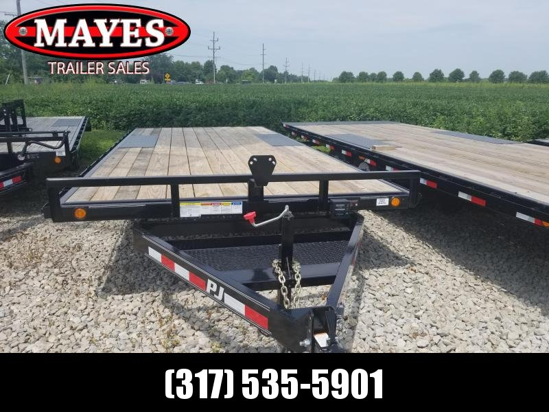 2019 96x20 PJ Trailers L5 Flatbed Trailer - Straight Deck w/ 6' Slide-in Ramps (GVW: 7000)