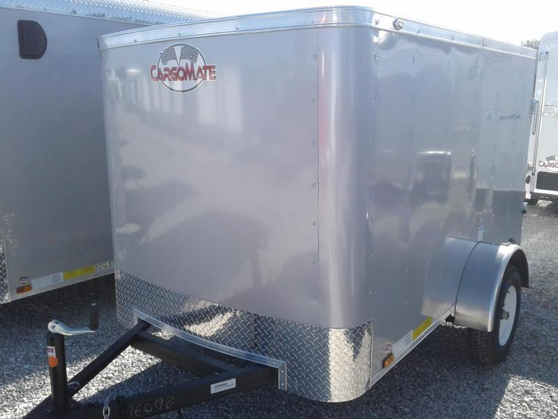 2019 5x8 Cargo Mate SS58SA Enclosed Cargo Trailer - Diamond Ice (Rear Swing Door)(GVW: 2990)