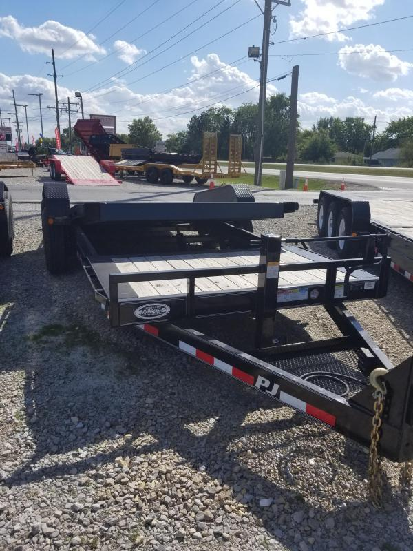 2018 81 1/2x20(16' Tilt + 4' Stationary) PJ Trailers TJ HD Equipment Tilt Trailer -  (GVW: 16000)