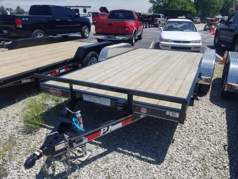 2018 83x16(14+2' Dovetail) PJ Trailers C5 Trailer - w/ 5' Slide-in Ramps (GVW: 7000)