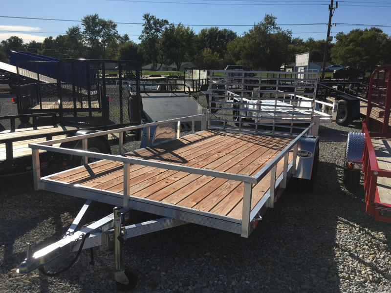 2018 7x14 Sport Haven AUT714 Utility Trailer - w/ 4' Fold-up Gate (GVW: 2990)