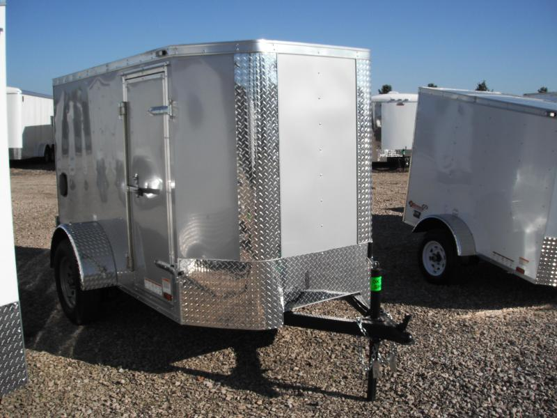 2017 5x8 Cargo Mate EHW58SA Cargo / Enclosed Trailer - Diamond Ice (Tapered Front)(DD)(GVW: 2990)