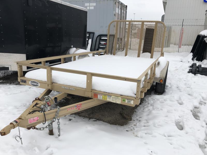 Used 2018 77x12 PJ Trailers U7121 Utility Trailer - 4' Tailgate (GVW:  2990#