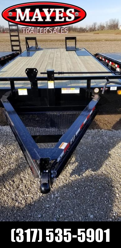 "2019 102x24(21+3' Dovetail) Deckover PJ Trailers F8242 Equipment Trailer - 8"" I-Beam (GVW:  14000)"
